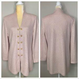 St. John Evening Pink & 24k Gold Blazer 12